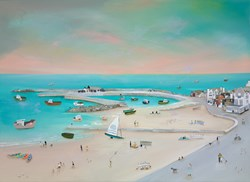 Tranquil Shores by Lucy Young - Original Painting on Stretched Canvas sized 39x29 inches. Available from Whitewall Galleries